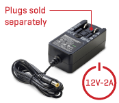 12V-2A, 1.8m Power Supply