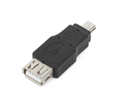 miniUSB-B Male to USB-A Female Adapter